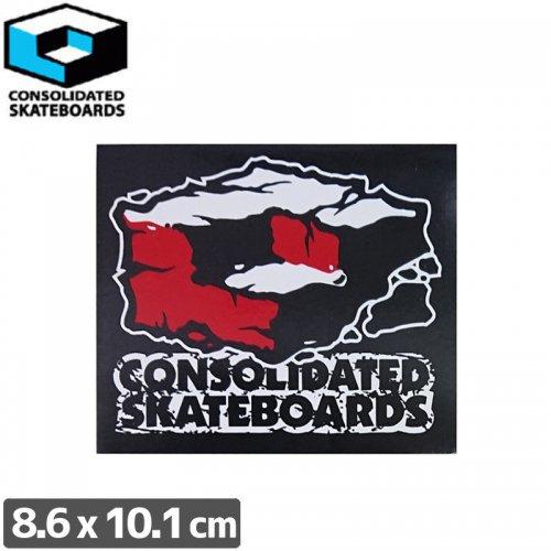 【CONSOLIDATED コンソリデーテッド スケボー ステッカー】CUBES【8.6cm x 10.1cm】NO62