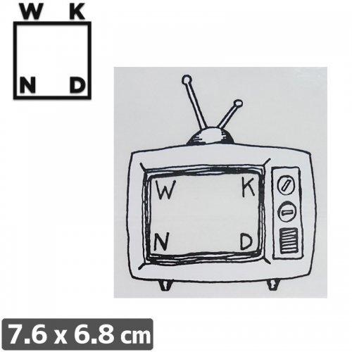 【ウィークエンド WKND スケボー ステッカー】TV LOGO【7.6cm x 6.8cm】NO1