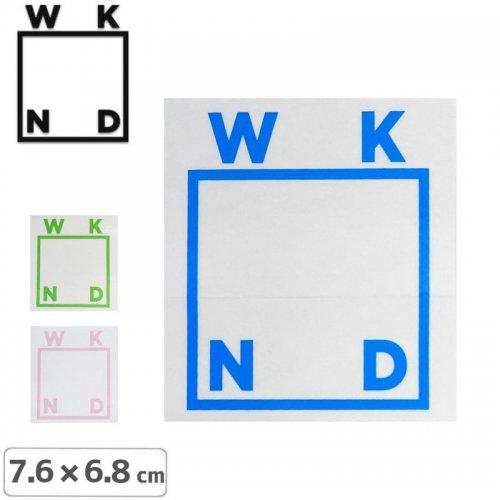 【ウィークエンド WKND スケボー ステッカー】LOGO STICKER【7.6cm x 6.8cm】NO2