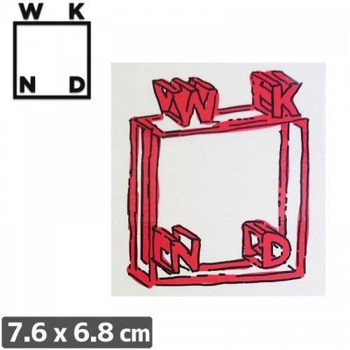 【ウィークエンド WKND スケボー ステッカー】RED SKETCH【7.6cm x 6.8cm】NO3