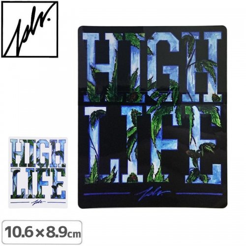 【JSLV ジャスリブ スケボー ステッカー】HI LIFE STICKER【10.6cm x 8.9cm】NO2
