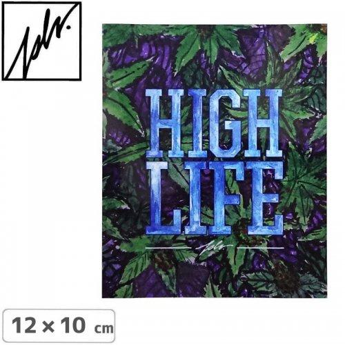 【JSLV ジャスリブ スケボー ステッカー】HI LIFE STICKER【12cm x 10cm】NO3