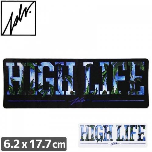 【JSLV ジャスリブ スケボー ステッカー】HI LIFE STICKER【6.2cm x 17.7cm】NO4