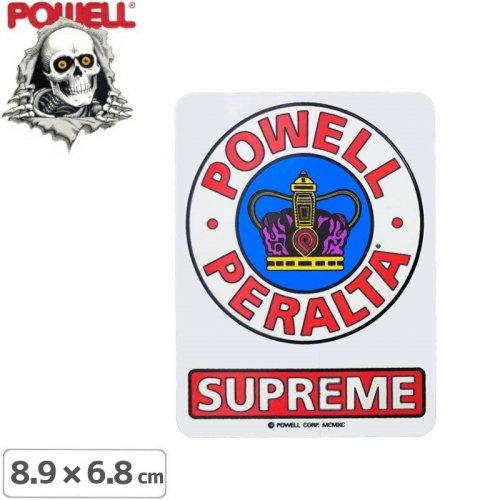 【パウエル POWELL スケボー ステッカー】SUPREME OG STICKER【8.9cm×6.8cm】NO36