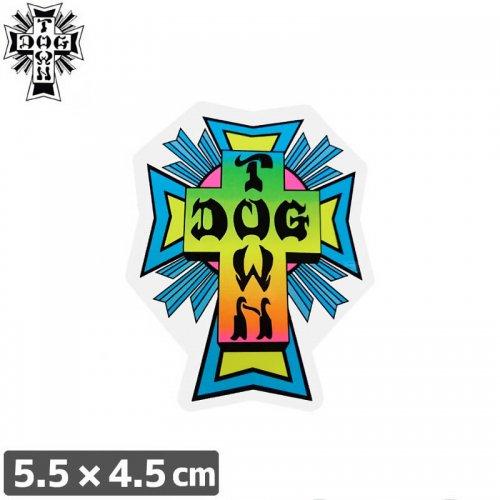 【ドッグタウン DOG TOWN スケボー STICKER ステッカー】CROSS LOGO NEON【5.5cm×4.5cm】NO14