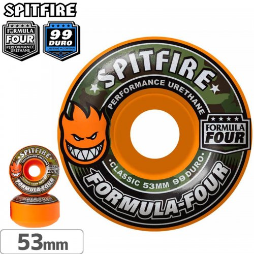 【SPITFIRE スピットファイアー ウィール】F4 FORMULA FOUR COVERT CLASSIC【99D】【53mm】NO232