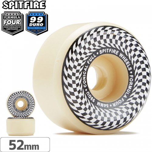 【SPITFIRE スピットファイアー ウィール】F4 FORMULA FOUR CHECK NATURAL CONICAL FULL【99D】【52mm】NO237