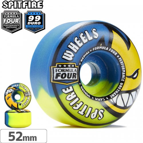 【SPITFIRE スピットファイアー ウィール】F4 FORMULA FOUR SWIRL RADIAL【99D】【52mm】NO239
