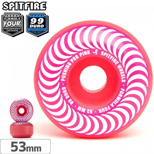 【SPITFIRE スピットファイアー ウィール】F4 FORMULA FOUR PUSHING FOR PINK【99D】【53mm】NO242