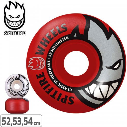 【SPITFIRE スピットファイアー ウィール】BIGHEAD MASHUP RED/WHITE【99D】【53mm】NO245