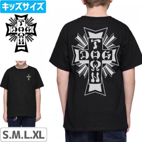 【DOG TOWN ドッグタウン スケボー キッズ Tシャツ】CROSS LOGO YOUTH TEE【ブラック】NO2