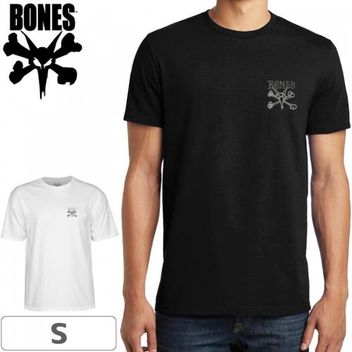 【ボーンズ BONES スケボー Tシャツ】CHESTER TEE【ブラック/ホワイト】NO37
