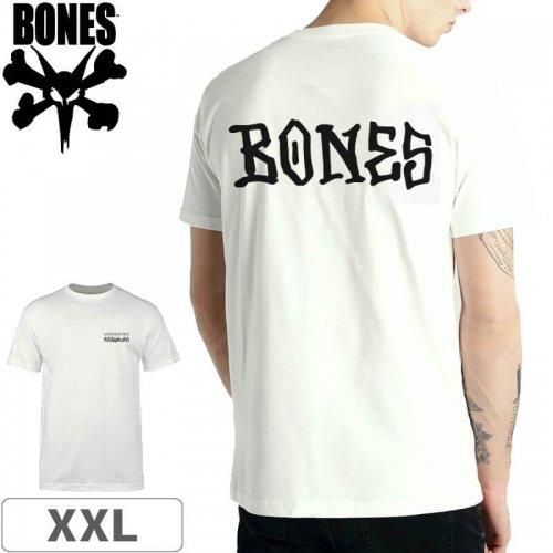 【ボーンズ BONES スケボー Tシャツ】RAYBOURN T-SHIRT【ホワイト】NO38