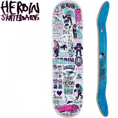 【HEROIN SKATEBOARDS ヘロイン デッキ】YEARS PART3 DECK[8.44インチ]NO30