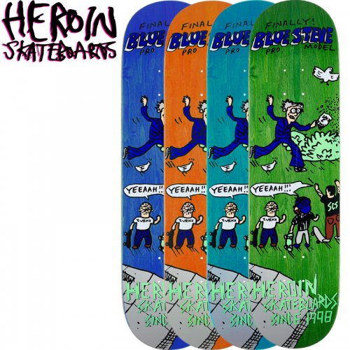 【HEROIN SKATEBOARDS ヘロイン デッキ】TRUE 20 YEARS DECK[8.125インチ]NO31