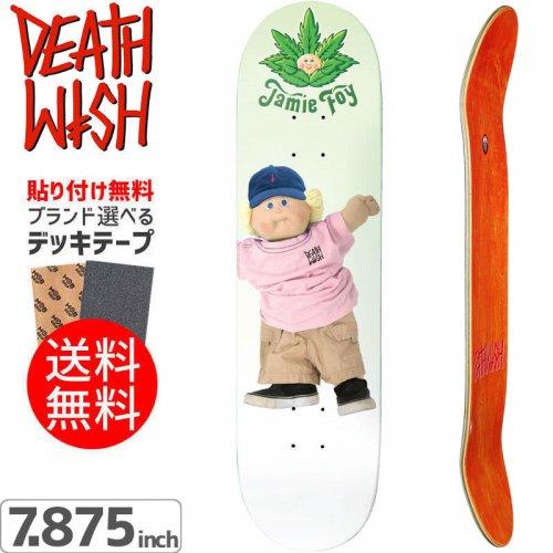 【デスウィッシュ DEATH WISH スケボー デッキ】JAMIE FOY CANNAPATCH KID DECK[7.875インチ]NO70
