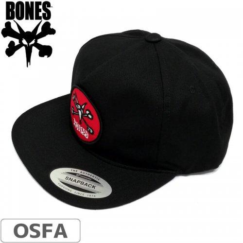 1週間SALE!【BONES ボーンズ スケボー キャップ】VATO RAT SNAPBACK HAT【ブラック】NO19