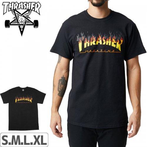 【スラッシャー Tシャツ THRASHER スケボー】BBQ T-SHIRT【ブラック】NO110