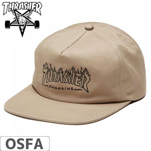 【スラッシャー THRASHER  キャップ】WITCH SNAPBACK CAP【タン】NO42