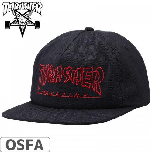 【スラッシャー THRASHER  キャップ】CHINA BANKS SNAPBACK CAP【ブラック】NO43