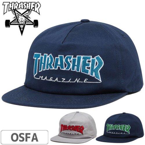 【スラッシャー THRASHER  キャップ】OUTLINED SNAPBACK CAP【ネイビー】NO44