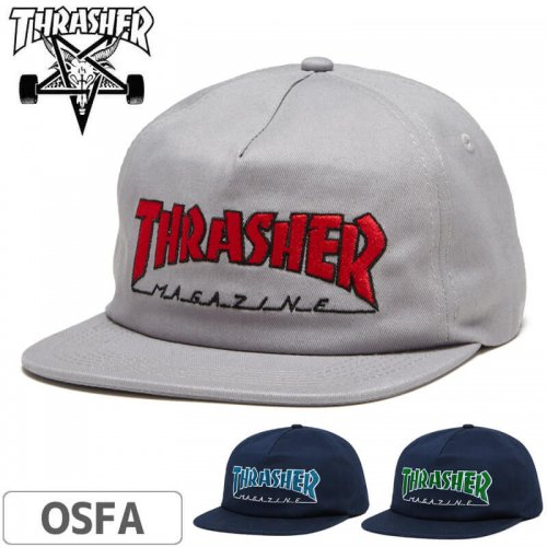 【スラッシャー THRASHER  キャップ】OUTLINED SNAPBACK CAP NO44