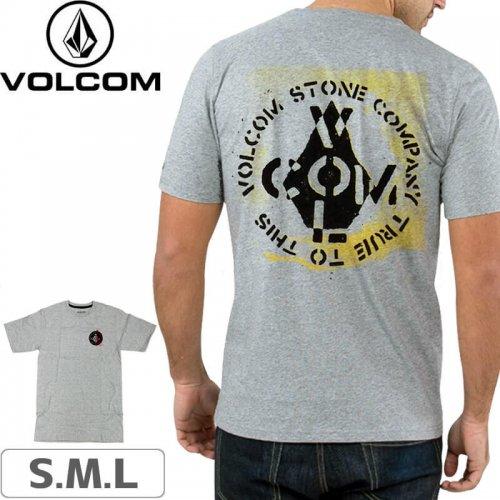 【VOLCOM ボルコム Tシャツ】CAGE S/S TEE【ヘザーグレー】NO106
