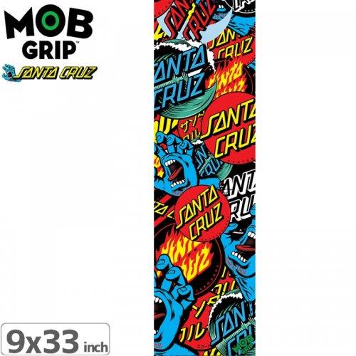 【モブグリップ MOB GRIP デッキテープ】SANTA CRUZ CLASSIC COLLAGE GRIPTAPE【9 x 33】NO186