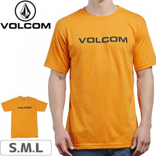 【VOLCOM ボルコム Tシャツ】CRISP EURO SHORT SLEEVE TEE【オレンジ】NO107