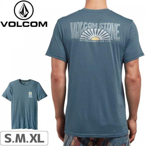 【VOLCOM ボルコム Tシャツ】SUNDOWN SHORT SLEEVE TEE【ヘザーブルー】NO108