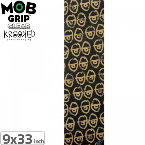 【モブグリップ MOB GRIP デッキテープ】KROOKED 20 EYES CLEAR GRIPTAPE【9 x 33】NO9
