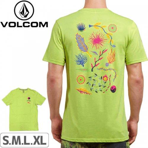 【VOLCOM ボルコム Tシャツ】NEON LEVITATE SHORT SLEEVE TEE【シャドーライムグリーン】NO110