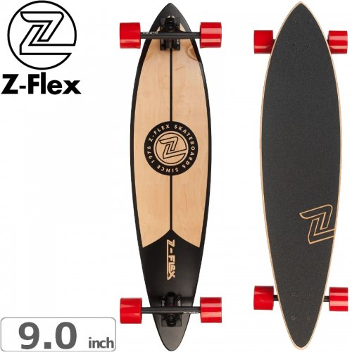 【ジーフレックス Z-FLEX スケートボード コンプリート】PINTAIL CLASSIC BLACK[38インチ]NO37