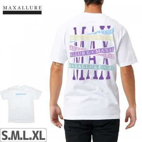 【MAXALLURE マックス アルーア スケボー Tシャツ】STARTING LINE TEE【ホワイト】NO1