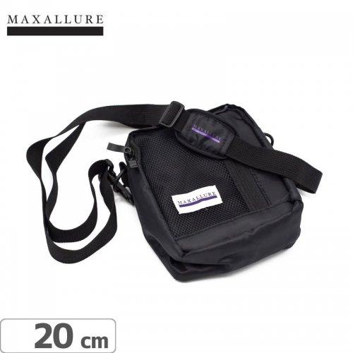 【MAXALLURE マックス アルーア スケボー ショルダーバッグ】SHOULDER BAG【ブラック】NO1