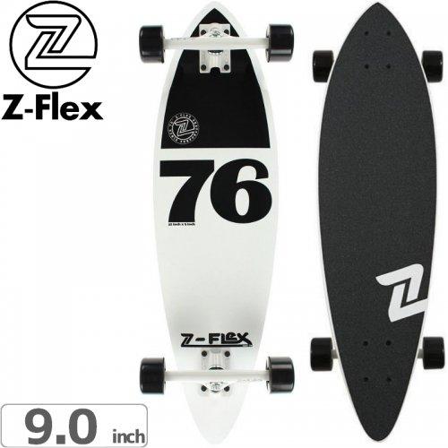 【ジーフレックス Z-FLEX スケートボード コンプリート】WHITE & BLACK MINI PINTAIL CRUISER[32インチ]NO40