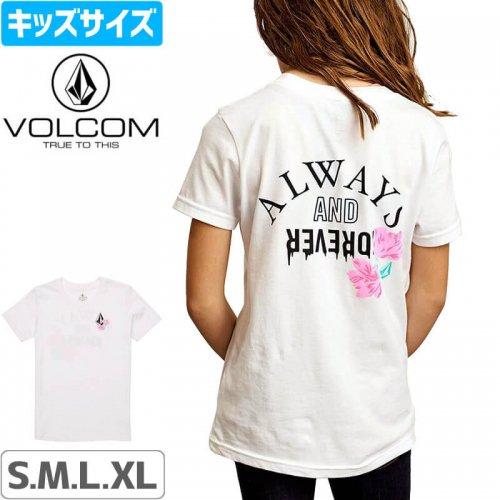 【ボルコム VOLCOM キッズ ガール Tシャツ】BIG GIRLS STONETERNALLY TEE【ホワイト】NO81