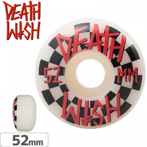 【デスウィッシュ DEATHWISH スケボー ウィール】CHECK WHEELS【52mm】【99A】NO12