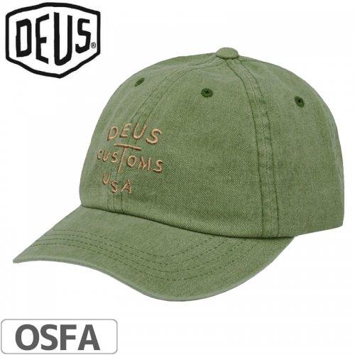 1週間SALE!【DEUS EX MACHINA デウス バイク サーフ キャップ 帽子】ROURKE CAP【カーキ】NO7