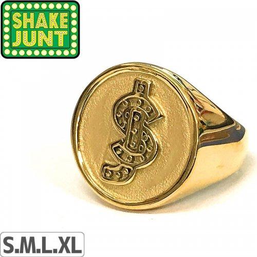 【シェイクジャント SHAKE JUNT スケボー 小物】SJ CLASSIC GOLD RING【ゴールド】NO1