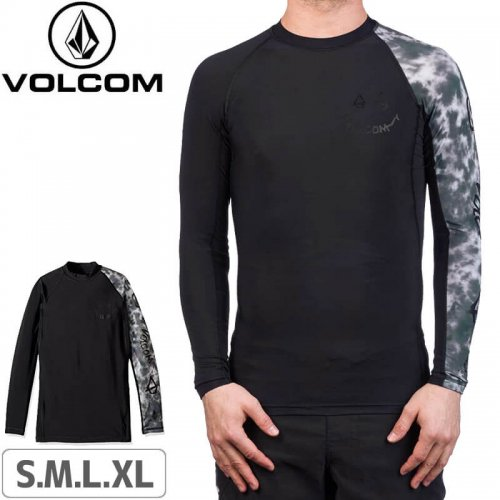 【VOLCOM ボルコム ラッシュガード】VOLCOM CHILL OUT L/S【ブラック】NO117