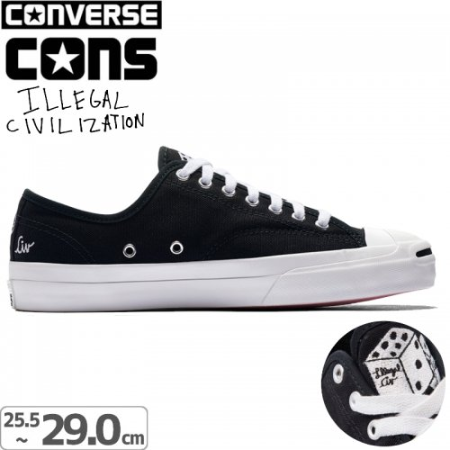 【CONS CONVERSE コンバース スケート シューズ】ILLEGAL CIV JACK PURCELL PRO SHOES【ブラック】NO44