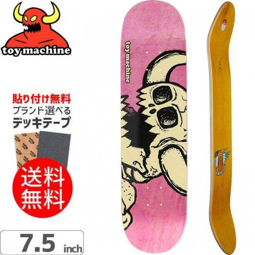 【トイマシーン TOY MACHINE スケートボード デッキ】VICE DEAD MONSTER PINK[7.5インチ]NO166