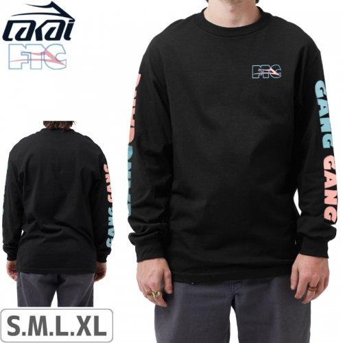 【LAKAI LIMITED FOOTWEAR ラカイ ロング Tシャツ】LAKAI x FTC GANG GANG L/S TEE【ブラック】NO1