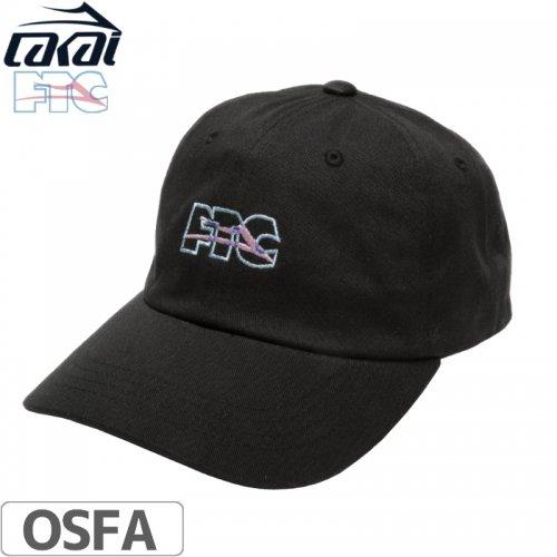 【LAKAI LIMITED FOOTWEAR ラカイ スケボー キャップ】LAKAI x FTC DAD HAT【ブラック】NO7