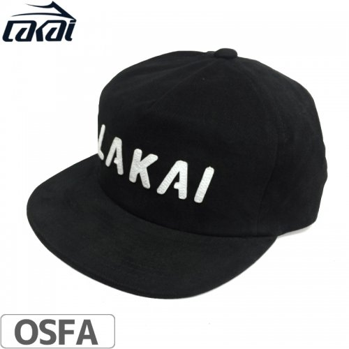 【LAKAI LIMITED FOOTWEAR ラカイ スケボー キャップ】SWIFT SNAPBACK HAT【ブラック】NO8