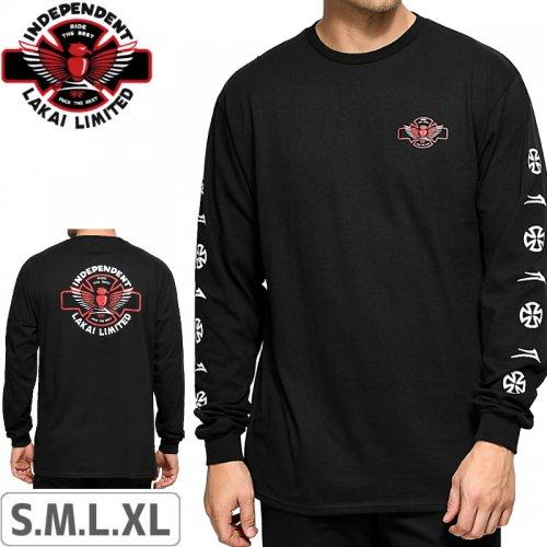 【LAKAI LIMITED FOOTWEAR ラカイ ロング Tシャツ】LAKAI x INDEPENDENT L/S TEE【ブラック】NO2