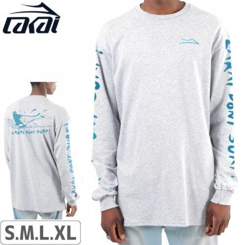 【LAKAI LIMITED FOOTWEAR ラカイ ロング Tシャツ】DONT SURF L/S TEE【アッシュヘザー】NO3