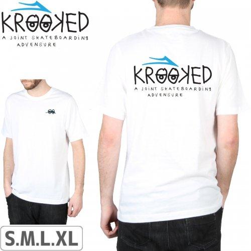 【LAKAI LIMITED FOOTWEAR ラカイ スケボー Tシャツ】LAKAI x KROOKED TEE【ホワイト】NO37