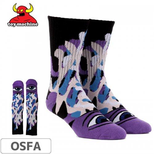 【TOY MACHINE トイマシーン ソックス】Barf Sect Sock【パープル】NO46